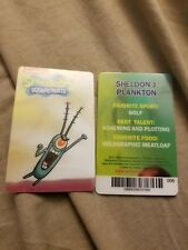 Sheldon J Plankton Spongebob coin pusher card dave and busters