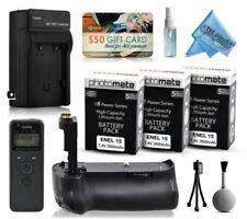 Empuñaduras de batería para cámaras de vídeo y fotográficas Nikon sin batería incluida