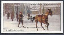 CHURCHMAN-SPORTS & GAMES IN MANY LANDS-#04- SKI JORING - CANADA