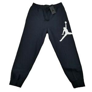 🔥 Nike Air Jordan Jumpman Fleece Sweatpants Joggers Men's Sz M Black DA6803-010