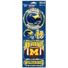 MICHIGAN WOLVERINES PRISMATIC HOLOGRAPH STICKER DECAL LABEL SHEET OF 5 NCAA