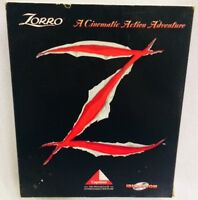Vintage Zorro PC 1995 Capstone IBM PC CD Big Box Game Complete Action Adventure