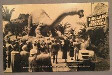 1934 Chicago Worlds Fair Century Of Progress Sinclair Brontosaurus Postcard