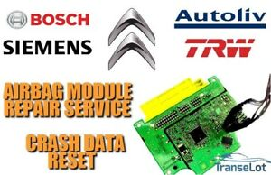 CITROEN C1 89170-0H130 AIRBAG SRS MODULE CRASH DATA RESET SERVICE