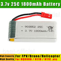 25C 3.7V 1800mAh Rechargeable Li-Po Battery For HQ898B H11D H11C Airplane Drone