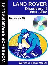 Land Rover Discovery II 1998 1999 2000 2001 2002 Workshop Repair Manual (CD)