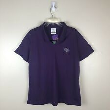 Womens Officially Licensed Breeders Cup Nike Dri-Fit Golf Polo Size XL Purple