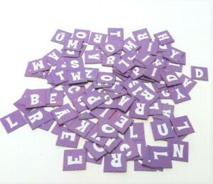 Dora The Explorer Scrabble Jr. Game Parts Pieces- Complete Set 121 Letter Tiles