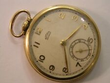 Vintage Swiss Gothic Jar-Proof 15J Gold Filled Plated Pocket Watch - Repair