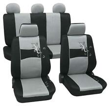 Silver & Black Stylish Car Seat Cover Set - Alfa Romeo 33 Sportwagon 1984-1989