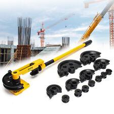 10-25mm Heavy Duty Manual Steel Pipe Tube Bender Handheld Pipe Bending W/ Dies