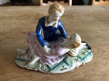 """Porcelain Statue Figures Lovers 4.5""""h x 7""""w - there is a mark on bottom"""