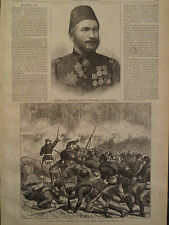 RUSSIAN CHARGE IN FOREST UNDER TURKISH FIRE HARPER'S WEEKLY 1877
