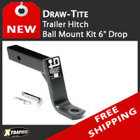 "Draw Tite Trailer Tow Towing Hitch Ball Mount Kit 6"" Drop include Pin / Clip"