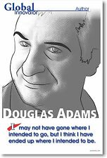 Douglas Adams - Hitchhiker's Guide Author - NEW Famous Person Classroom POSTER