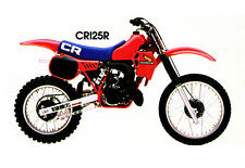 Vintage Factory Honda Pro-Link AHRMA 1983 CR125R decal sticker RC Works Bike CR