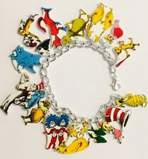 Dr Doctor Seuss Characters Grinch Lorax  Loaded Handmade Bracelet Plastic Charms