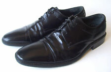 PIERRE CARDIN MENS OXFORD BLACK LEATHER SHOES SIZE 9.5