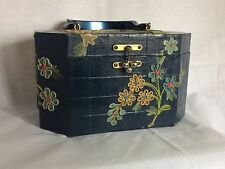 Vintage Gallywog of Florida Bird  Flower 3D Decopauge Wood Box Purse Retro