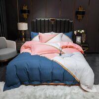 Horse Cotton Bedding Sets Duvet Cover Set Flat Fitted Bed Linen Quilt Cover 4pcs