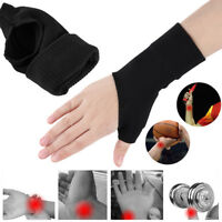 2pcs Therapy Gloves Gel Filled Thumb Hand Wrist Support Arthritis Compression
