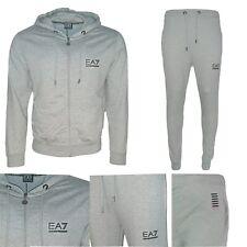 Emporio Armani EA7 Tracksuit Lounge Wear Core 100% Cotton Grey Hoodie