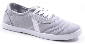 Damen Sneaker Stoffsneaker Gr.36 Turnschuhe Mehrfarbig Grau Weiß Gr. 36