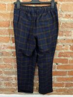 NEXT WOMENS BLACK, NAVY & PINK CHECKED TROUSERS SIZE: 10R BNWT RRP £28