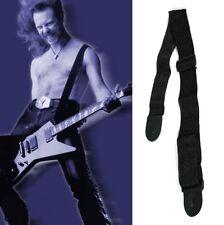 Acoustic Guitar Adjustable Heavy Duty Black Strap Leather Ends 1pc