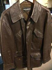 Gimo's Italiana Men's Brown Leather Italian Jacket Medium Made In Italy Vintage