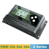 Solar Controller PWM 24V 12V 30A 20A 10A Auto Timer Control Charge Regulator