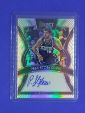 2019-20 Panini Select PEJA STOJAKOVIC Silver Prizm On Card AUTO /199 Kings