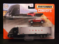 2020 Matchbox Convoys Tesla Semi & Box Trailer / Tesla Model S