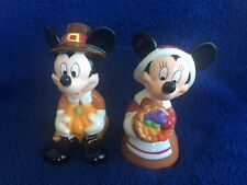 Walt Disney Thanksgiving Mickey & Minnie Mouse Salt and Pepper Shakers
