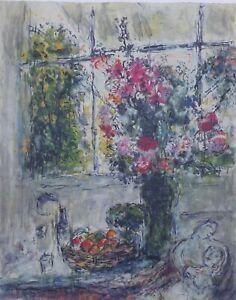 CHAGALL Marc (d'après) : le bouquet aux amoureux - LITHOGRAPHIE signée, 500ex