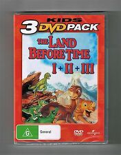 The Land Before Time I + II + III (3-Movie Collection) Dvds Brand New & Sealed
