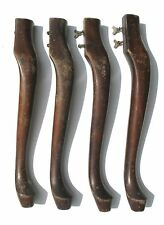 "Set of 4 matching Mahogany Queen Anne style Furniture Table Legs -  20 1/2"" tall"