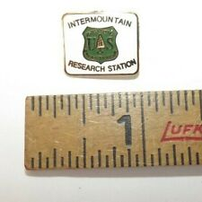 Vintage Original U.S. Forest Service Intermountain Research Station Pin - 3/4""