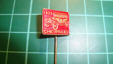 Chevrolet 1925 car stick pin badge 60's lapel anstecknadel auto Chevy