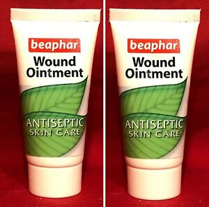 2 x Dog Antiseptic Ointment Natural Healing Skin Wounds Soothes Bites Aloe Vera