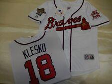 0812 Majestic 1995 Atlanta Braves RYAN KLESKO World Series Baseball JERSEY New