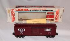 Lionel Trains 6-9217 SOO Line Operating Boxcar 3494-625 worker moves toward door