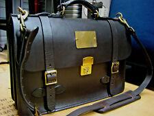 vintage FILSON Field brown Satchel leather Briefcase Messenger Bag Made In USA