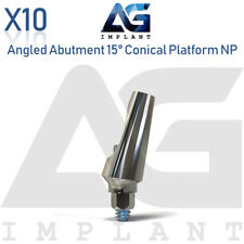 10 Angled Abutment 15° Conical Connection NP Titanium Abutment Dental Implant