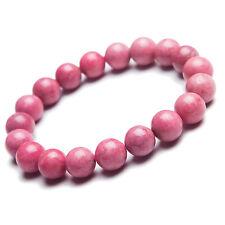 Natural Rose Rhodonite Gemstone Round Beads Healing Bracelet AAAA 11MM