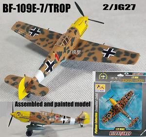 WWII Messerschmitt BF-109 E-7 Trop II/JG27 aircraft 1/72 finish Easy model plane