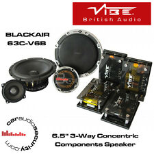"Vibe BLACKAIR 63C-V6B - 6.5"" 3-Way Concentric Component Speaker 390 Watts NEW"