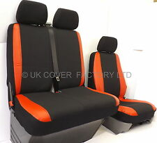 PEUGEOT BOXER  VAN SEAT COVERS MADE TO MEASURE RED  SPORTS TRIM P50RD
