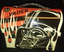 Star Wars DARTH VADER in Flames Workman Tin Tote / Metal Lunch Box