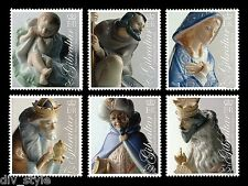 Christmas 6 stamps mnh 2007 Gibraltar #1109-14 Porcelain Nativity Figurines
